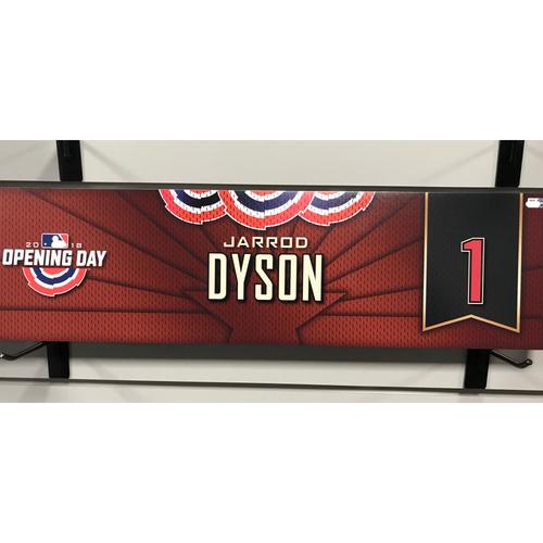 Photo of 2018 Jarrod Dyson Opening Day Nameplate
