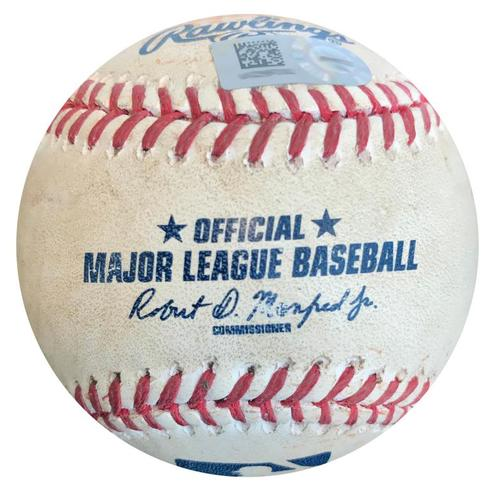 Photo of Game-Used Baseball from Pirates vs. Indians on 7/5/15 - Michael Bourn Single