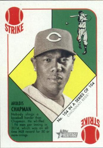 Photo of 2015 Topps Heritage '51 Collection #104 Aroldis Chapman