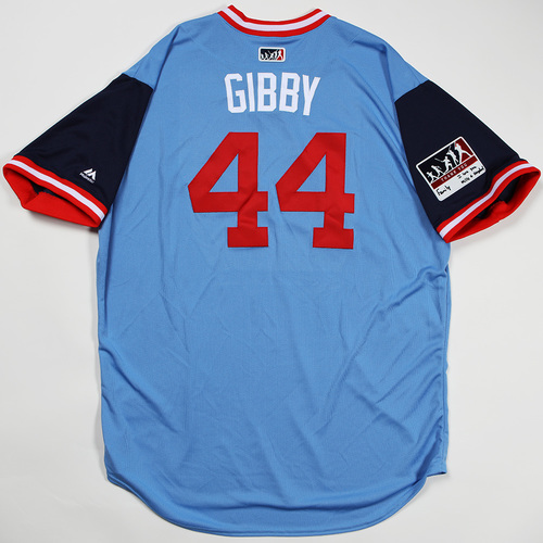 "Photo of Kyle ""Gibby"" Gibson Minnesota Twins Team Issued Jersey 2018 Players' Weekend Jersey"