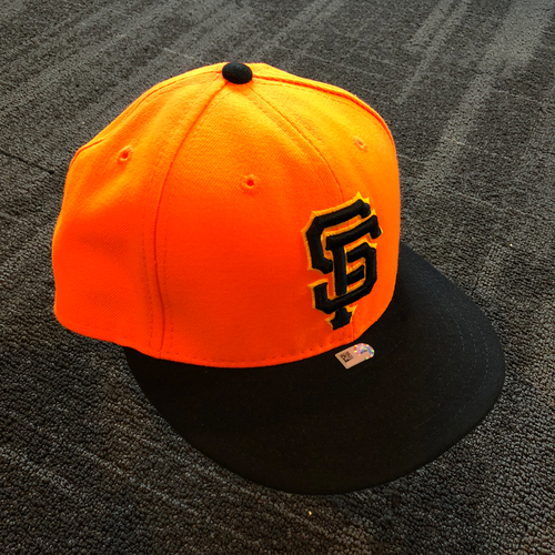 Photo of San Francisco Giants - 2018 Game Used Player Weekend Cap - Evan Longoria - Size 7 1/8