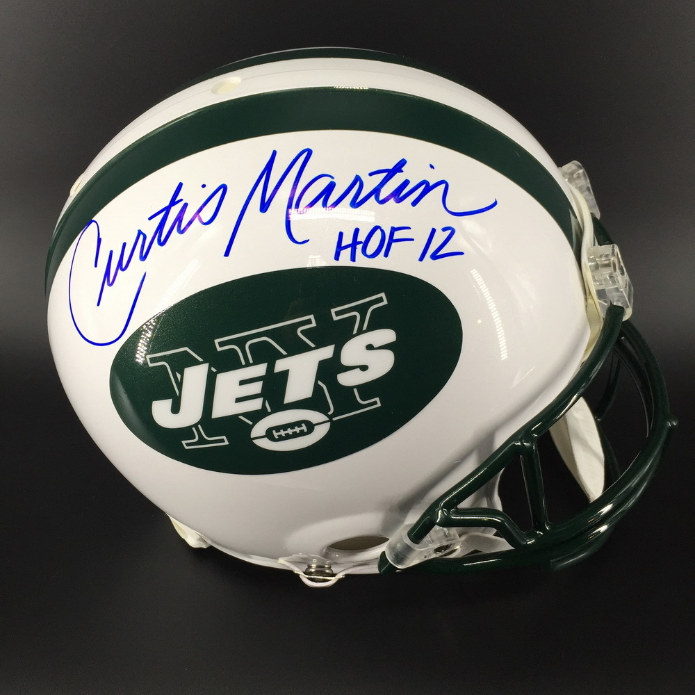 HOF - Jets Curtis Martin Signed Proline Helmet