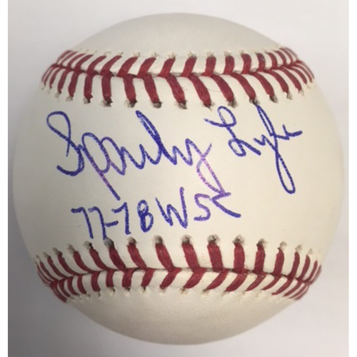 "Photo of Sparky Lyle ""77-78 WSC"" Autographed Baseball"