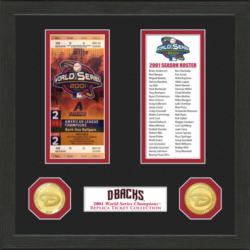 Photo of Arizona Diamondbacks World Series Ticket Collection