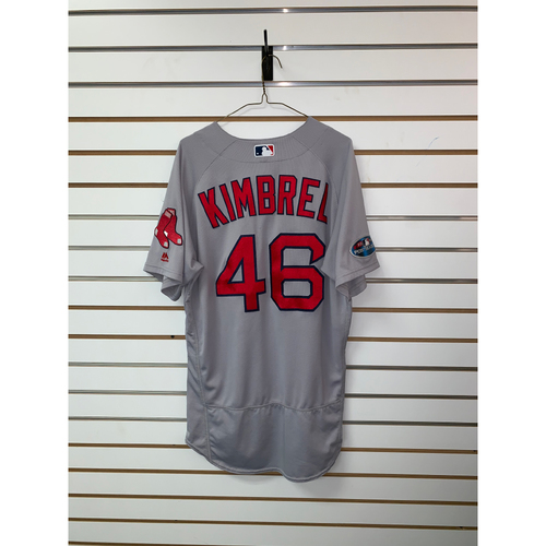 Photo of Craig Kimbrel Game Used October 8 & 16, 2018 Postseason Road Jersey