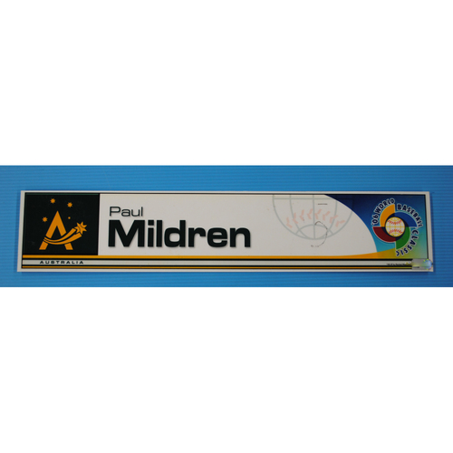 Photo of 2006 Inaugural World Baseball Classic: Paul Mildren Locker Tag - AUS