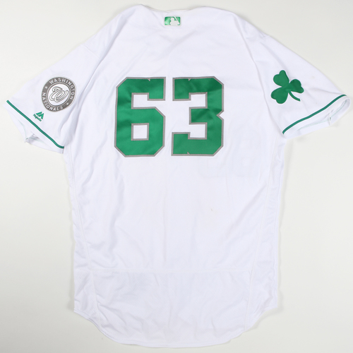 Photo of 2016 Spring Training - Spring Training Game Used Jersey - Derek Self (Nationals)- Size- 46