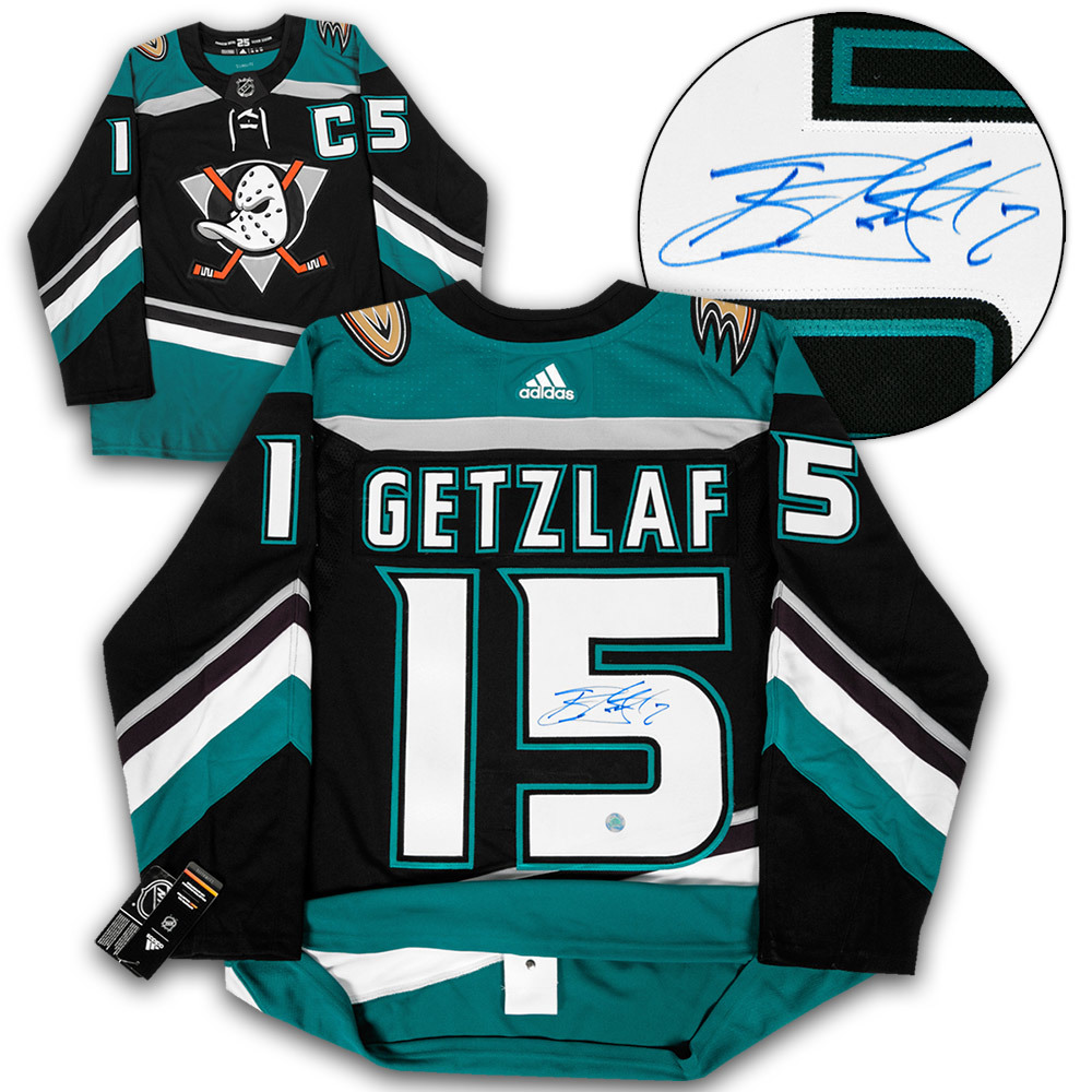 Ryan Getzlaf Anaheim Ducks Autographed Mighty Ducks Adidas Authentic Jersey
