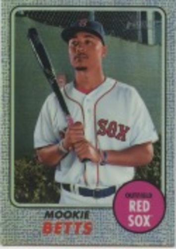 Photo of 2017 Topps Heritage Chrome Purple Refractors #THC428 Mookie Betts