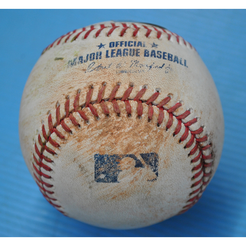 Photo of Game-Used Baseball - CWS at PIT - 9/8/2020 - Pitcher - Dylan Cease (CWS), Batter - Josh Bell, Bot 5, Double