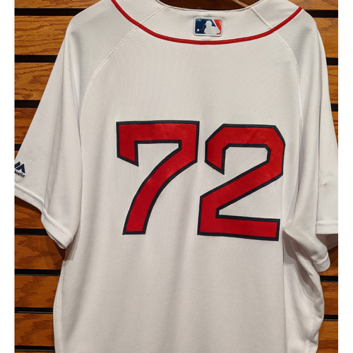 Photo of Roman Mendez #72 Team Issued Home White Jersey