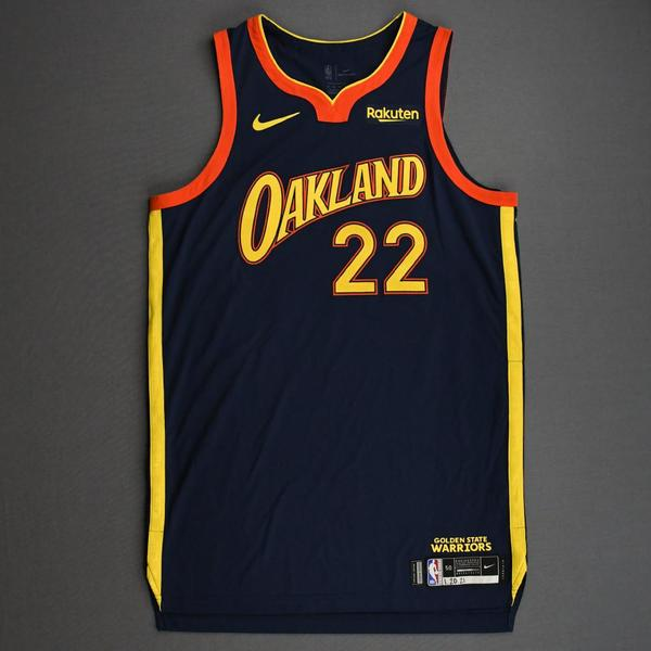 Image of Andrew Wiggins - Golden State Warriors - Game-Worn City Edition Jersey - 2020-21 NBA Season