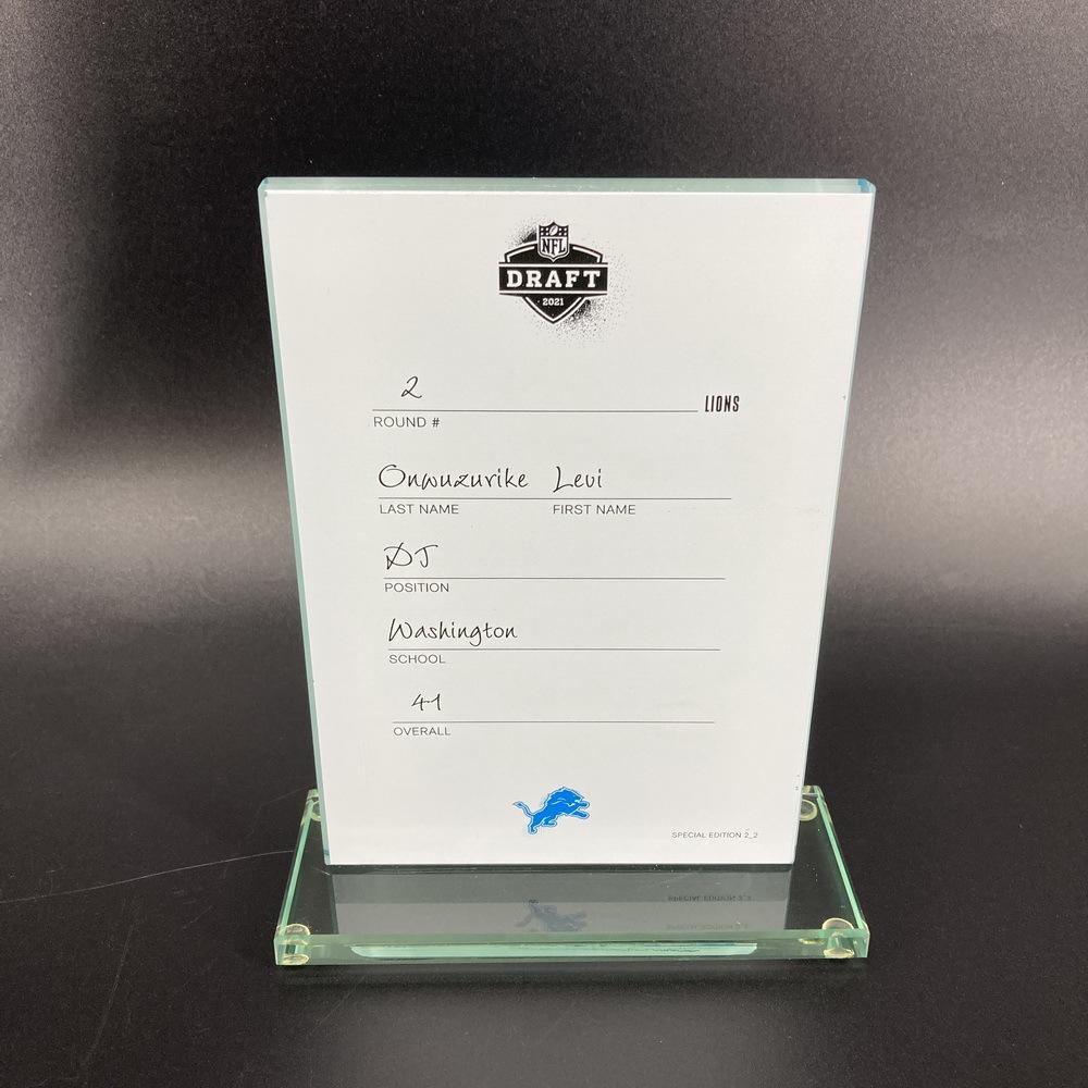 NFL - Lions Levi Onwuzurike 2021 NFL Draft Card Special Edition 2 of 2