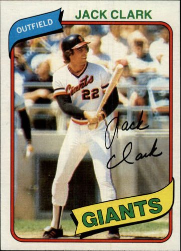 Photo of 1980 Topps #167 Jack Clark