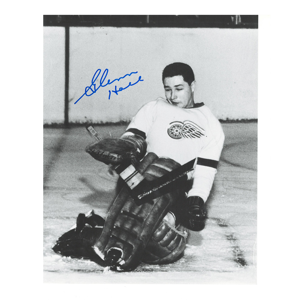 GLENN HALL Signed Detroit Red Wings 8 X 10 Photo - 70145