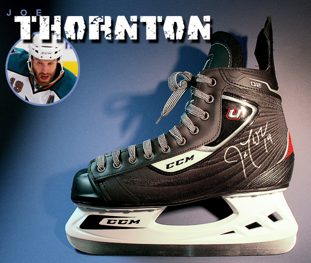 JOE THORNTON Signed CCM Skate - San Jose Sharks