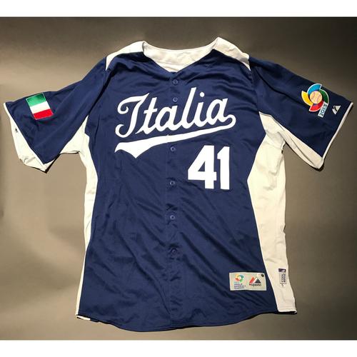 2013 World Baseball Classic Jersey - Italy Jersey, Drew Butera #41