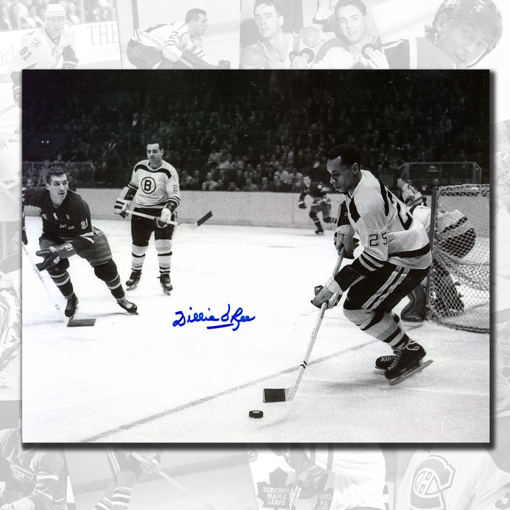 Willie O'Ree Boston Bruins vs. Rangers Autographed 8x10