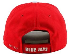 389cee44736 Description. Embroidered Blue Jays leaf  Adjustable Velcro strap  Nike logo  on left side  Adult sizing  Curved bill  Dri fit