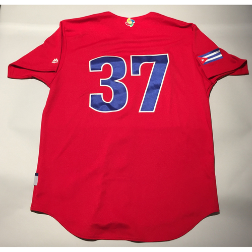 2017 WBC: Cuba Game-Used Batting Practice Jersey, #37