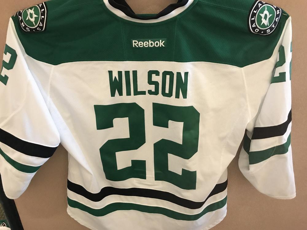 Landon Wilson Alumni Game Worn Stars Jersey
