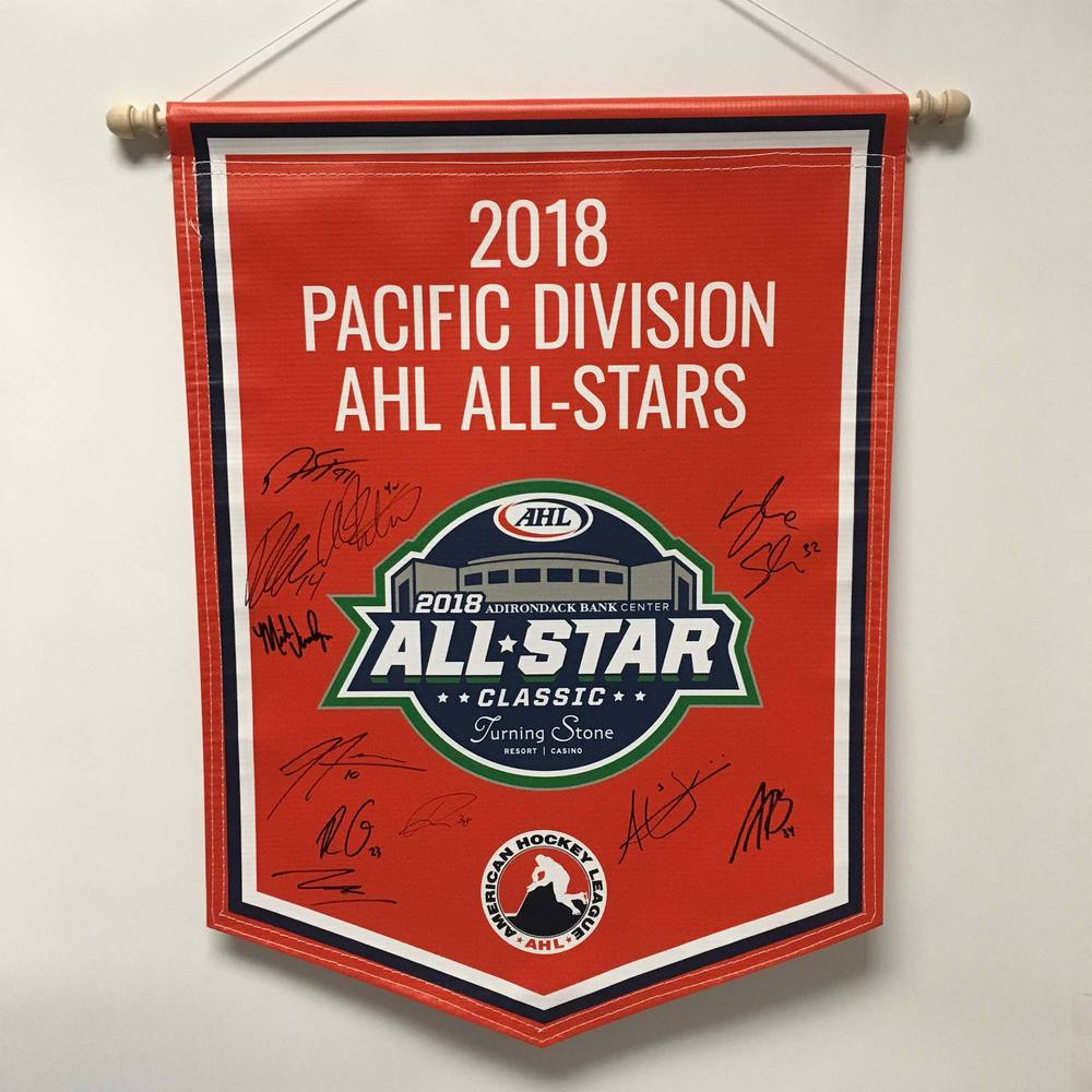 2018 Pacific Division AHL All-Stars Team-Signed Banner