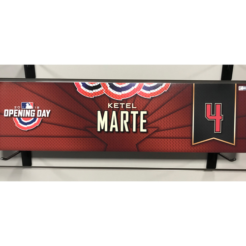 Photo of 2018 Ketel Marte Opening Day Nameplate