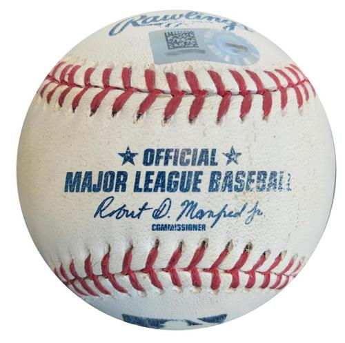 Photo of Game-Used Baseball from Pirates vs. Padres on 7/6/15 - Gregory Polanco Single