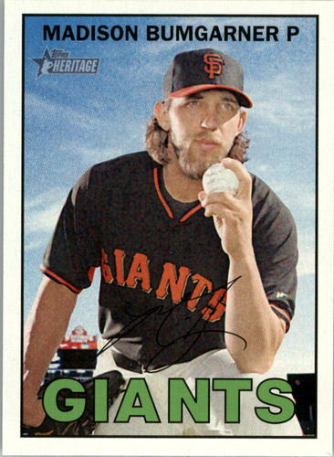 Photo of 2016 Topps Heritage #320 Madison Bumgarner