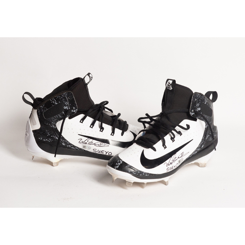 Photo of Autographed Wander Suero Cleats - Winning Bidder Can Pick Up Items Directly From Wander on September 24, 2018
