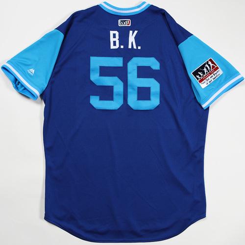 "Photo of Brad ""B.K."" Keller Kansas City Royals Game-Used Jersey 2018 Players' Weekend Jersey"
