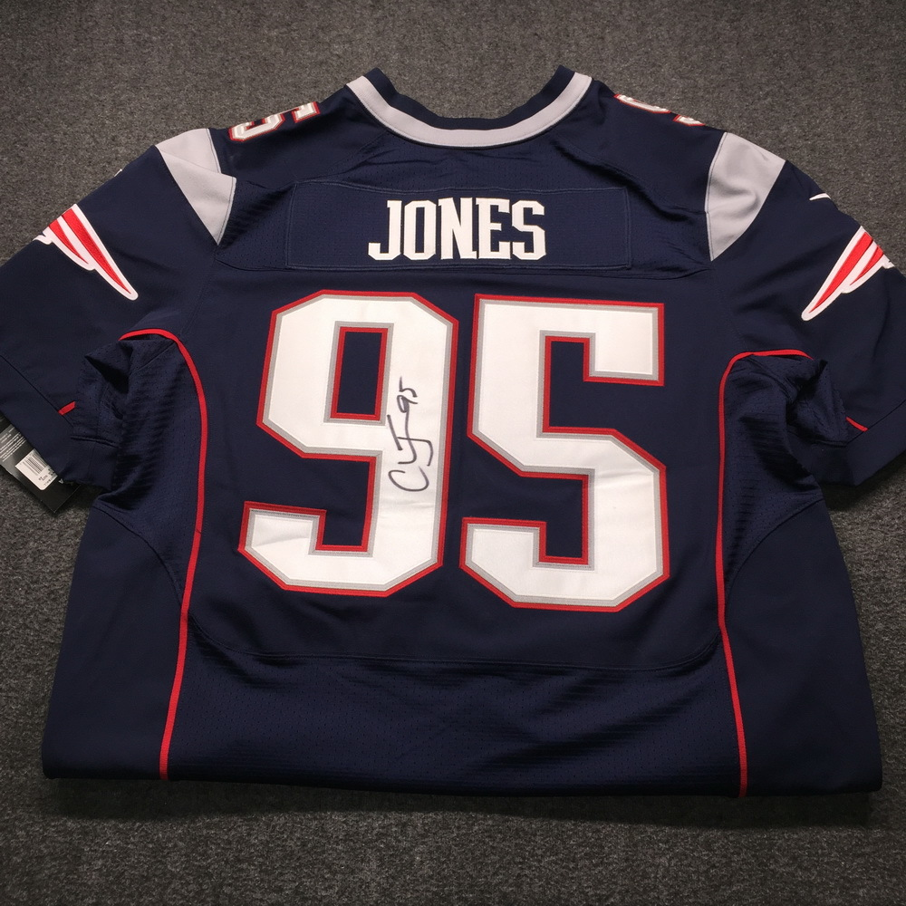 new arrival ab160 5a0e5 NFL Auction | Patriots - Chandler Jones Signed Jersey Size 58