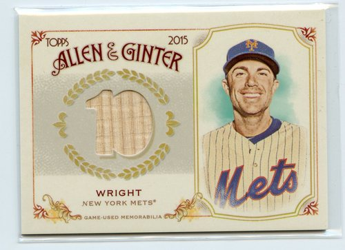 Photo of 2015 Topps Allen and Ginter Relics #FSRBDW David Wright B