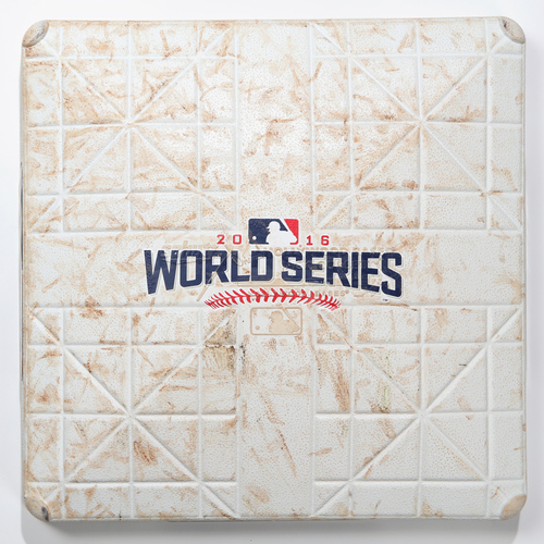 Photo of Game-Used Base: 2016 World Series Game 5 - Cleveland Indians at Chicago Cubs - 1st Base used in Innings 7-8