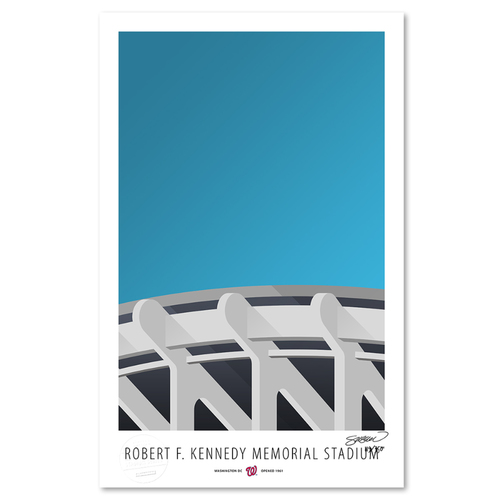 Photo of RFK Memorial Stadium - Collector's Edition Minimalist Art Print by S. Preston #119/350  - Washington Nationals