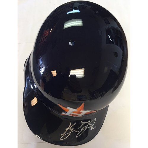 Photo of Kyle Tucker Autographed Astros Helmet