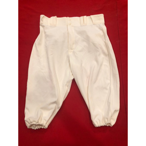 Derek Dietrich -- Game-Used Pants -- 1902 (Starting 2B: Went 1-for-3, HR, RBI, BB, R) & 1912 Throwback Games (Pinch-Hit: Went 1-for-1, HR, RBI, R) -- Size: 34-42-16