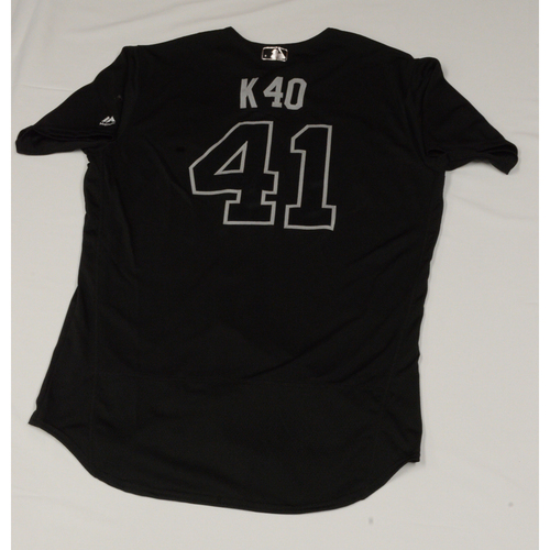 "Photo of Kelvin ""K40"" Herrera Chicago White Sox Game-Used 2019 Players' Weekend Jersey"