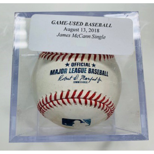 Photo of Game-Used Baseball: James McCann Double