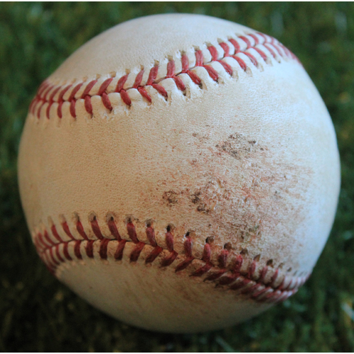 Photo of Game-Used Baseball: Jonathan Villar 670th Career Hit (8/30/19 - BAL @ KC)