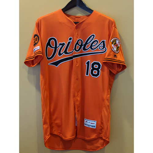 Photo of Brandon Hyde - Orange Alternate Jersey: Game-Used