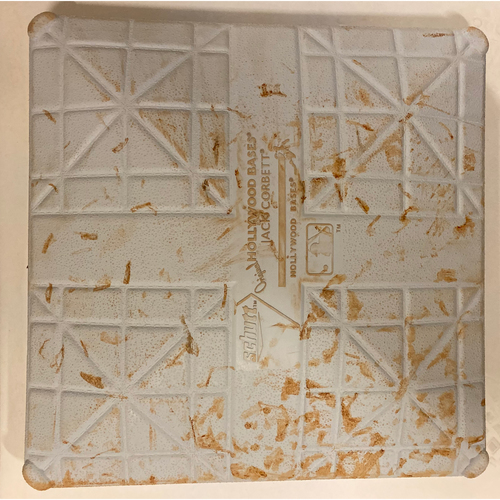 Photo of 2019 NLDS Game Used Base - First Base Used During 3rd Inning - 10/3/19