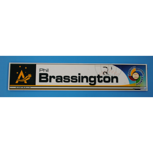 Photo of 2006 Inaugural World Baseball Classic: Phil Brassington Locker Tag - AUS