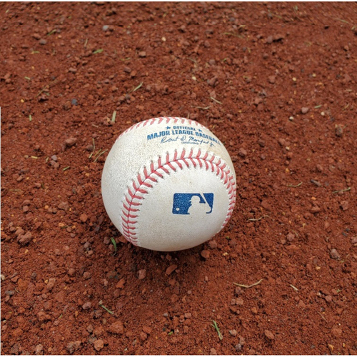 Photo of 2020 Phillies Game-Used Baseball - Bobby Dalbec Home Run (Historic Consecutive Game Streak)