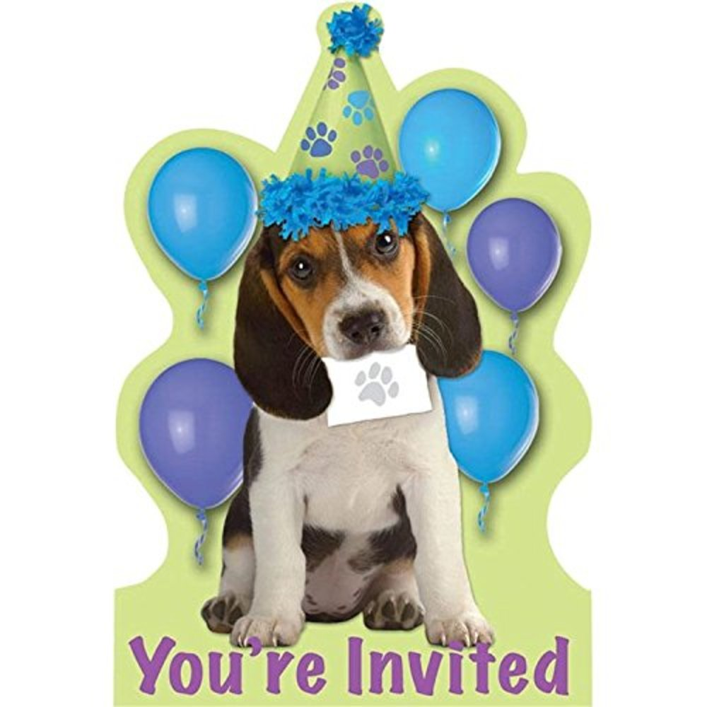 Photo of Amscan Puppy Party Invitations