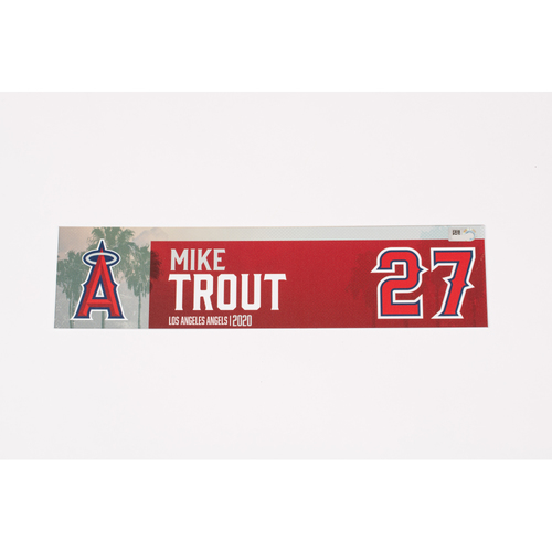 Mike Trout 2020 Team Issued Locker Tag