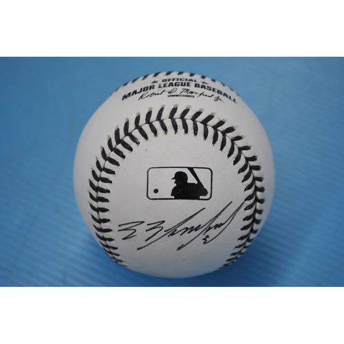 Photo of 2020 MLB Black Lives Matter Commemorative Ball - Autographed by Eduardo Escobar