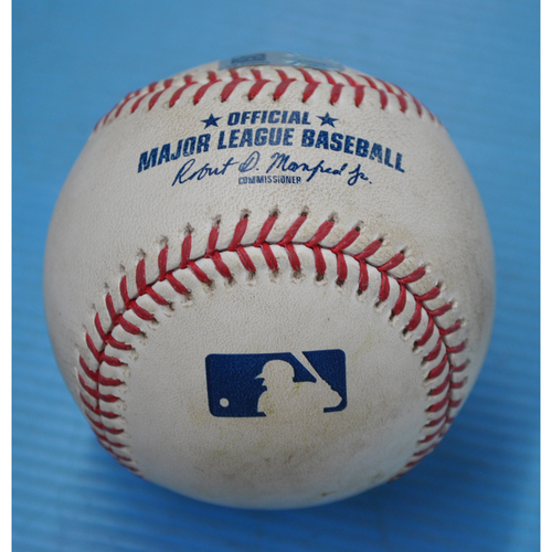 Photo of Game-Used Baseball - CWS at PIT - 9/9/2020 - Pitcher - JT Brubaker, Batter - James McCann, Top 3, Home Run
