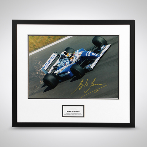 Photo of Ayrton Senna Williams Framed Signed Photograph