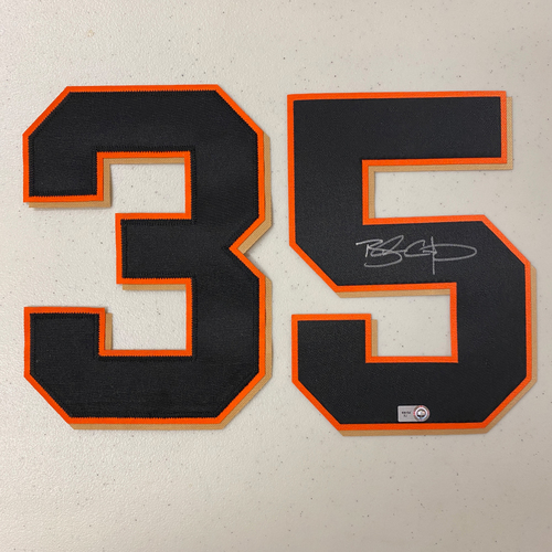 Photo of #35 Brandon Crawford Autographed Number (*No Jersey Included* JERSEY NUMBERS ONLY)